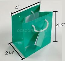 """Lot of 20 Teal Turquoise Blue Tote Jewelry Display Gift Bags ~ 4""""x4.5""""x2.75"""""""