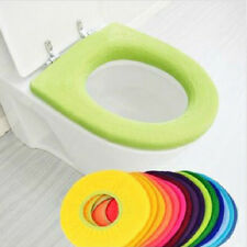 Toilet Closestool Warmer Washable Soft Cloth Seat Lid Cover Pad Bathroom CA