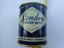 Vintage boite beurre SONDRA,tole,VIDE café,bistrot,,original,déco loft