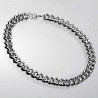 Halskette als Panzerkette Nickelfreies Metall 15 mm breit