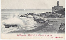 CARTOLINA DI BORDIGHERA IMPERIA CHIESA SAN AMPELIO E MARINA  3-252