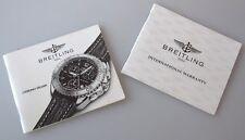 NOTICE  GARANTIE  Breitling SHARK quartz documents originaux