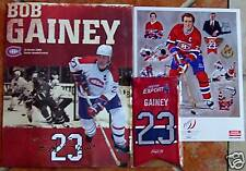 Bob Gainey # 23 * Complete Kit * Retiring Jersey Night BANNER,BOOKLET, NEWSPAPER