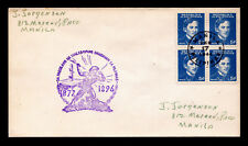 Phillipines WW II Japanese Occupation Sc #N32 Block of 4 Censored FDC 2/17/1944