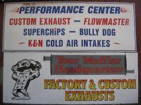 HUGE Pair of Original Man Cave Garage Hot Rod Signs 10ft LONG