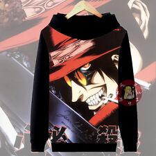 Anime Hellsing Alucard Cosplay Hoodie Casual Jacket Unisex Coat#G-12-111