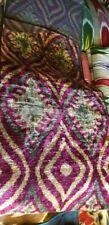 Uzbek silk velvet ikat fabric by meter. Uzbek silk velvet Bakhmal