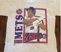 Bobby Bonilla Vintage NY Mets t shirt 1992 Reprint White Gildan Tee S-4XL DD2527