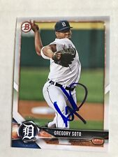 Gregory Soto Signed 2018 Bowman Draft Detroit Tigers Card # BD-53