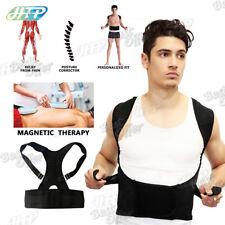Magnetic Posture Corrector Belt Lumbar Lower Back Support Shoulder Brace Size: L