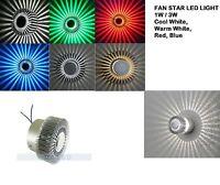 star fan modern wall ceiling night light indoor living  bedroom room LED PUB kid