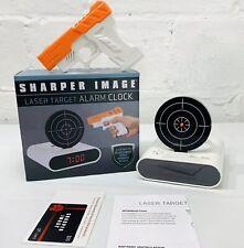 Sharper Image Laser Target Alarm Clock w/ Gun, $25 Gift Card -Batteries Included