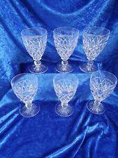More details for vintage stuart crystal glasses set of 6 red wine/water goblets