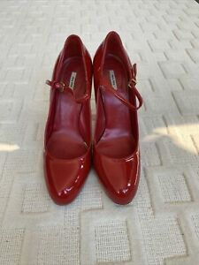 MIU MIU Red Patent Leather Heel Shoes size 38 (8 US)