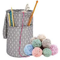Large Yarn Storage Bag Knitting Crochet Tote Organizer Holder Portable CaseH_ti