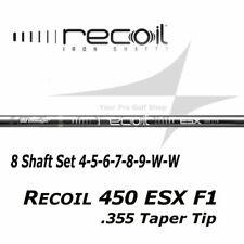 8 Shaft Set 4-5-6-7-8-9-W-W UST Mamiya Recoil 450 ESX F1 L Flex .355 Taper Tip