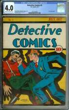 DETECTIVE COMICS #5 CGC 4.0 CR/OW PAGES // GOLDEN AGE CREIG FLESSEL COVER