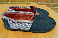 Girl'S Youth *Toms* Fabric Upper Fleece Lined Shoes-Sz Y 5-Color Black & Hounds