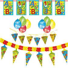 Deko Set Tisch Schulanfang Einschulung Schuleinführung Dekoration Luftballons