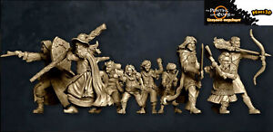 The Printing Goes Ever On - Fellowship of the Ring - Señor anillos - Minis3D