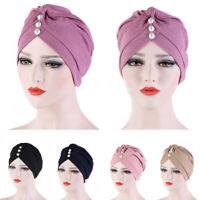 Indian Beanie Muslim Women Pleated Hat Hijab Head Cover Turban Cancer Bonnet Cap