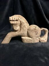 """Antique South India Hand Carved Wood Horse Sculpture Statue Figurine 12.5"""""""
