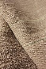 Grainsack fabric grain sack material hemp homespun 14.3 GREEN YELLOW RARE bolt