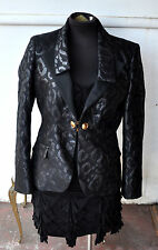 GIANNI VERSACE Collection Blk Blazer Jacket Sz 46 Italy Authentic Rare Sold Out!