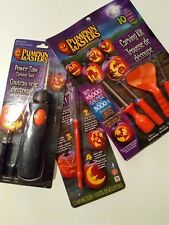 Pumpkin power saw MASTER CARVING patterns scraper batteries operated Halloween