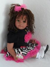 "Reborn 22"" Ethnic/Biracial/AA/Hispanic toddler girl doll ""Zebra Glam Daniella"""