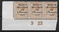 Ireland 1922 5d SG7; HibT6; Sc6 Control S22 Yellow/Brown UNMOUNTED Mint OG