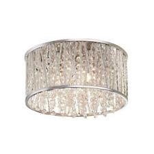 Home Decorators Collection 11.5 in. 3-Light Polished Chrome and Crystal Drum