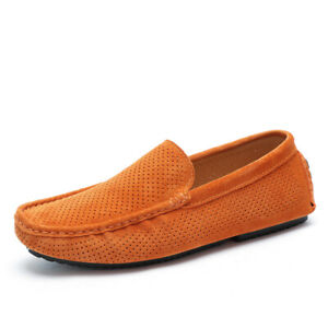 Men Pumps Slip on Loafers Breathable Soft Comfy Casual Driving Moccasins Shoes L