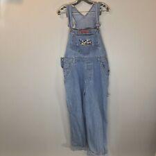 Vintage Disney Mickey Mouse Womens Medium Jean Overalls Bibs Pants - Blue denim
