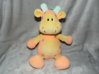 PLAY AND LEARN GIRAFFE SOFT TOY ORANGE YELLOW RATTLE COMFORTER DOUDOU