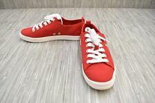 **Calvin Klein Monna 34R9066 Canvas Comfort Shoes, Women's Size 8.5, Red