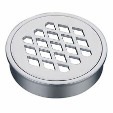 Kinetic FLOOR GRATE 100mm ROUND DIAMOND, Chrome Plated Brass + Removable Top