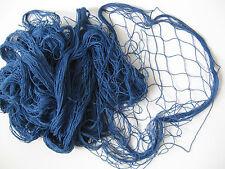 Deko Fischernetz ca. 200x400cm Blau Baumwolle Maschen 3x3cm