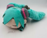 "Hatsune Miku A1512 Vocaloid Laying Nesoberi SEGA 7"" Plush Stuffed Toy Doll Japan"