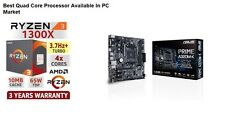 AMD RYZEN 3 1300X 4 Core Processor + ASUS PRIME A320M-K DDR4 AM4 Motherboard