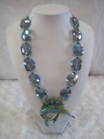 "HEIDI DAUS""Fantastic Swordfish"" Blue Beaded Fish Necklace(Orig.189.95)-LAST ONE!"