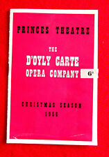 Princes Theatre 1956 D'Oyly Carte Opera Company Christmas Season Program msc3