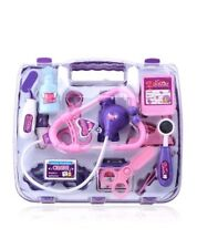 Girls /Kids Doctors Nurses Toy Medical Set Role Play Hard Carry Case Gift Pink