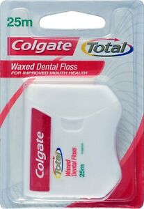 Colgate Total Waxed Dental Floss For Improved Mouth Health 25m Per Pack Of 20