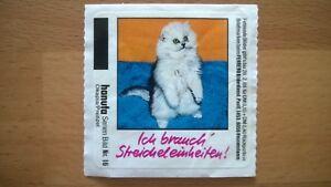 Original Hanuta Sticker Aufkleber Kesse Kätzchen 1987 Serien-Bild Nr.16 Katze