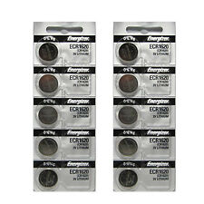 10 x Energizer CR1620 Battery ECR1620 CR 1620 3V Lithium Batteries
