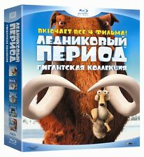 * neu * ice age 1-4 collection (blu-ray 5 disc set) eng, rus, est, lat, zündete etc.