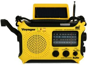 Back in Stock Newest Solar Weather Alert AM/FM/SW Radio Kaito KA500L Quick Ship