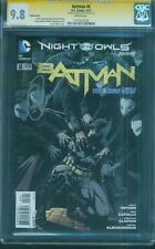 Batman 8 CGC SS 9.8 Greg Capullo Jason Fabok Owl Mob Variant Top 1 Snyder script