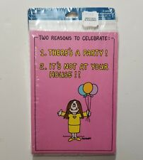 Vtg Cathy Guisewite Party Invitations 8 Cards Envelopes NIP New Old Stock